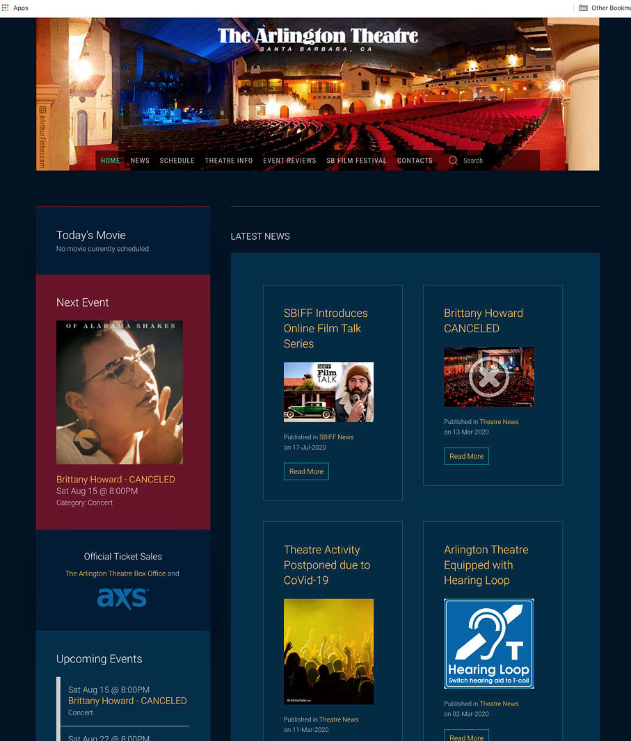 thearlingtontheatre.com Gets Another Facelift